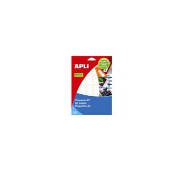 ETIQUETAS APLI  DIN-A5C 19,0X40,0