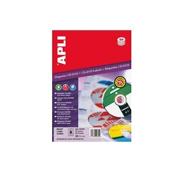 ETIQUETAS APLI REMOVIBLE CD-ROM 114 25H