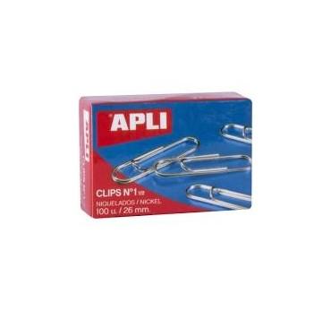 CLIPS APLI NIQUEL Nº3 40MM 100U.