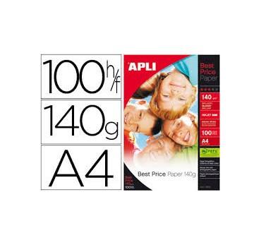 PAPEL APLI FOTOGRAFICO BEST PRICE GLOSSY ,A-4-140G 100H