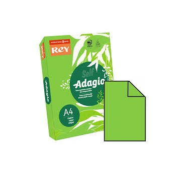 PAPEL ADAGIO A4 80GRS. VERDE INTENSO- 500H.