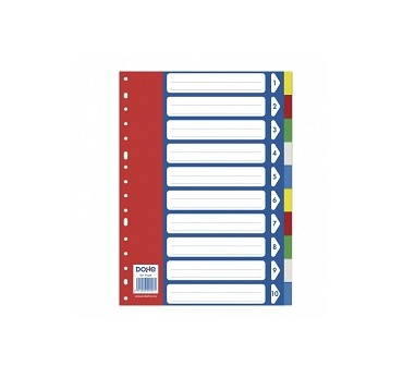 INDICE BASIC A4- 10 POSIC./5 COLORES