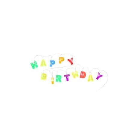 LETRAS CON LUZ HAPPY BIRTHDAY