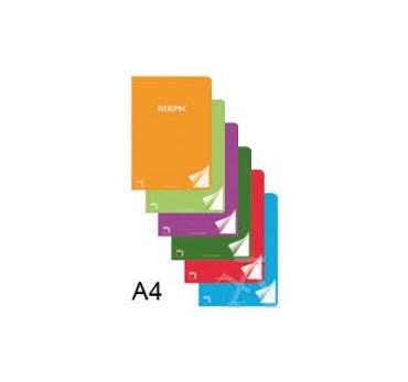 LIBRETA  A4 48H PAUTA 3,5 CM FLEXIPAC 90GR